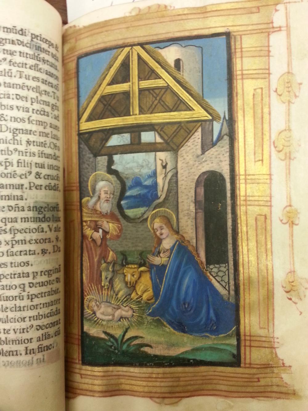 """The Nativity""  Livre des Heures , Germain Hardouin. 1533"