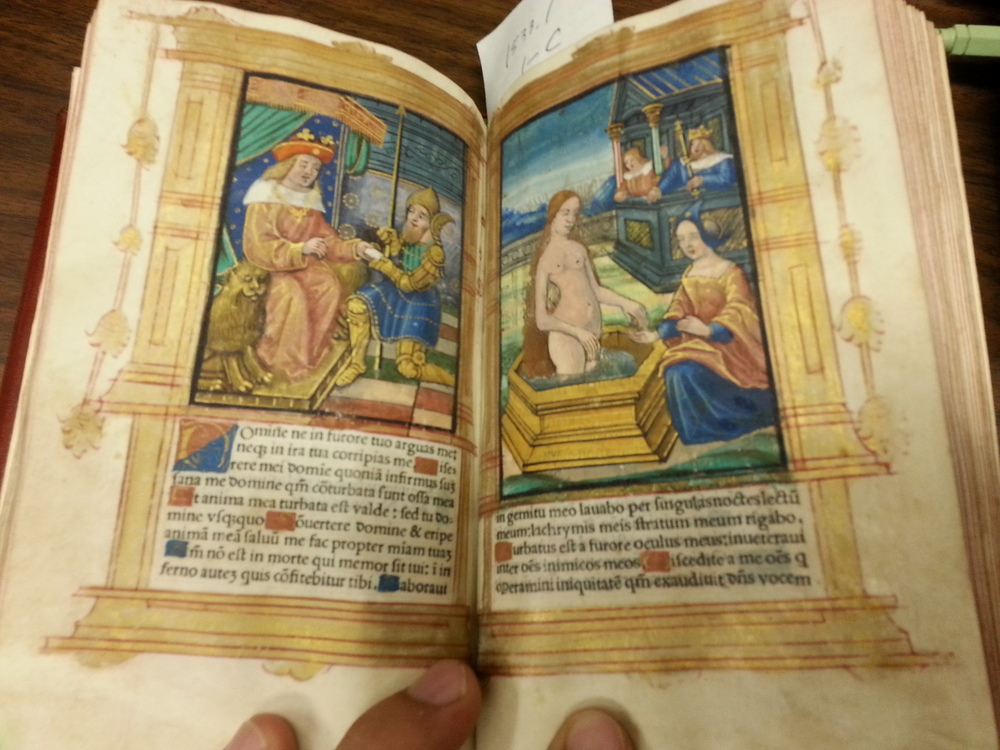 """Scenes from the life of King David and Bathsheba""  Livre des Heures . Germain Hardouin. 1533"