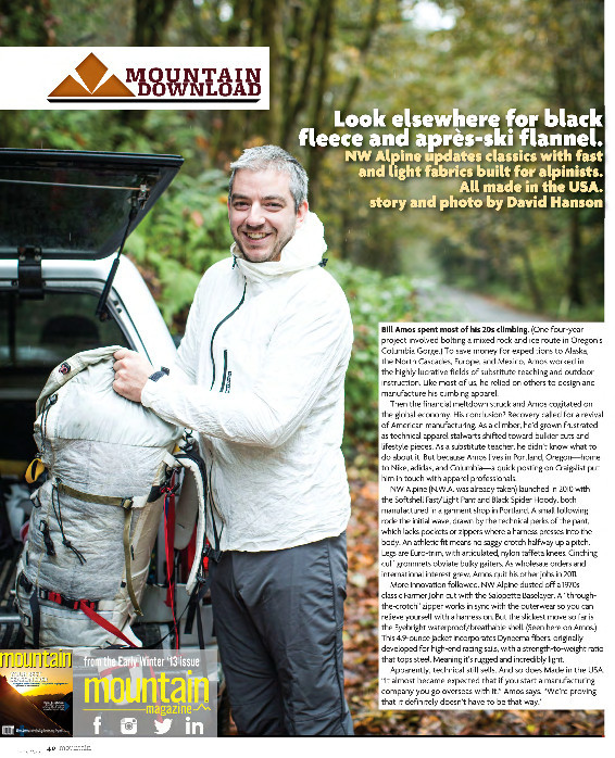 Mountain Magazine Profile