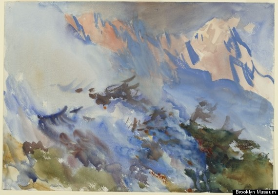 John Singer Sargent     Mountain Fire     1906-7
