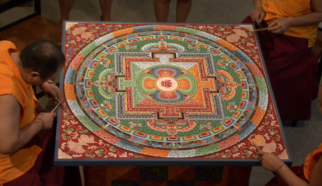 screenshot of the Mandala livecast [via hammer.ucla.edu]