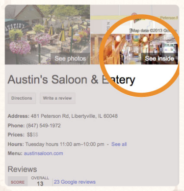 Go to Austin's Fuel Room Google+Local page to view virtual tour
