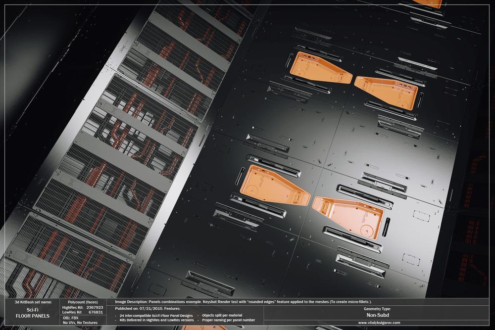 Sci Fi Floor Panels Vitaly Bulgarov