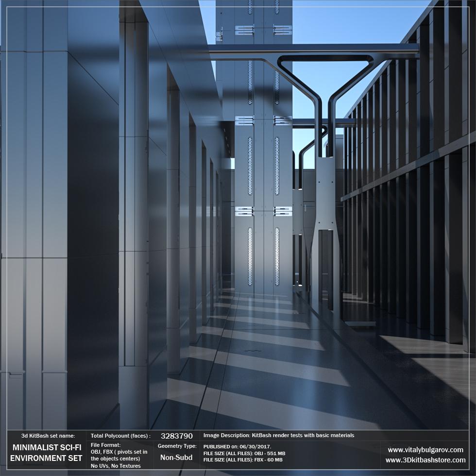 MINIMALIST Sci-Fi Environment Set — Vitaly Bulgarov