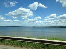 The bay near L'Anse, Michigan, and Lake Superior beyond