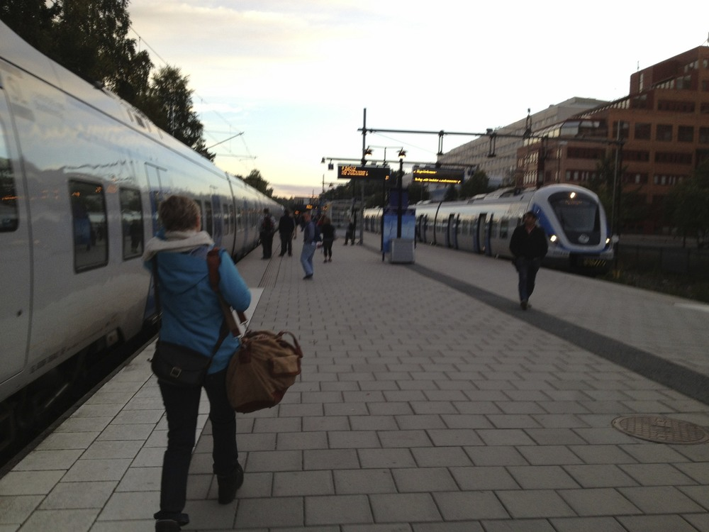 catching the train to Arlanda