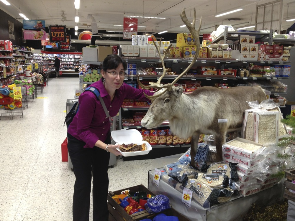 me and my reindeer pizza leftovers, and its cousin, Blitzen