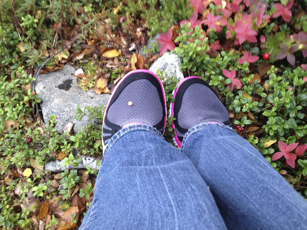 The shoes I was forced to buy in Jokkmokk, because the airline lost my bag.