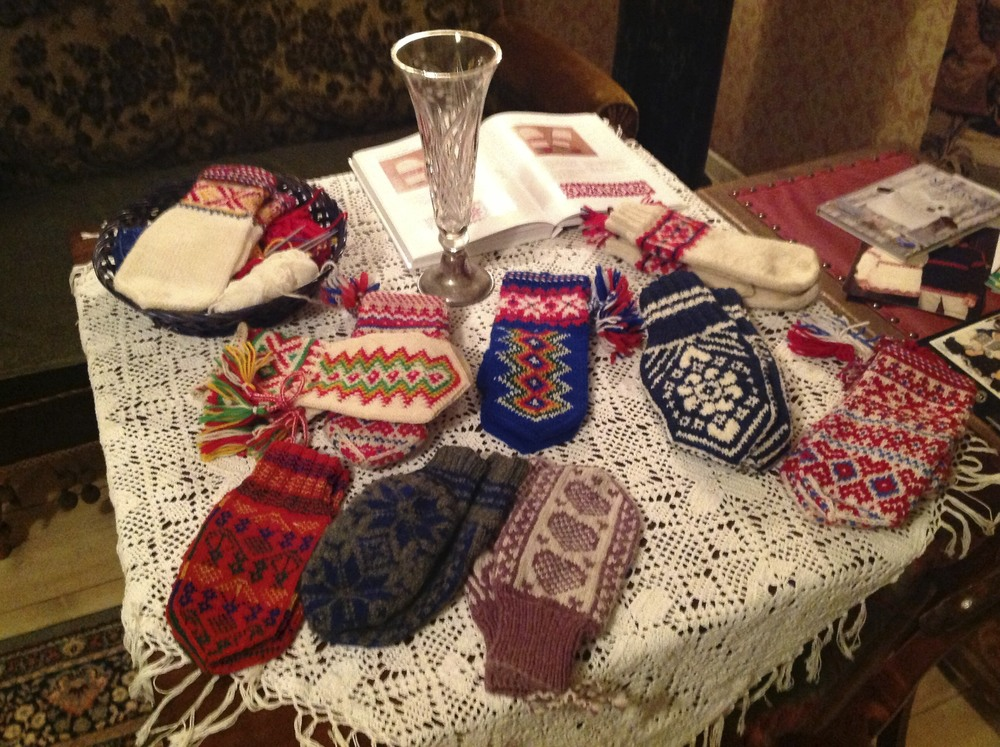 a collection of local mittens