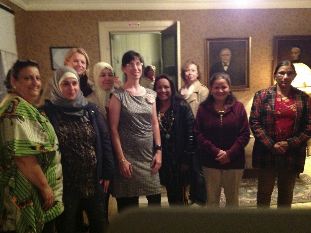 the international women's group joined us for the night