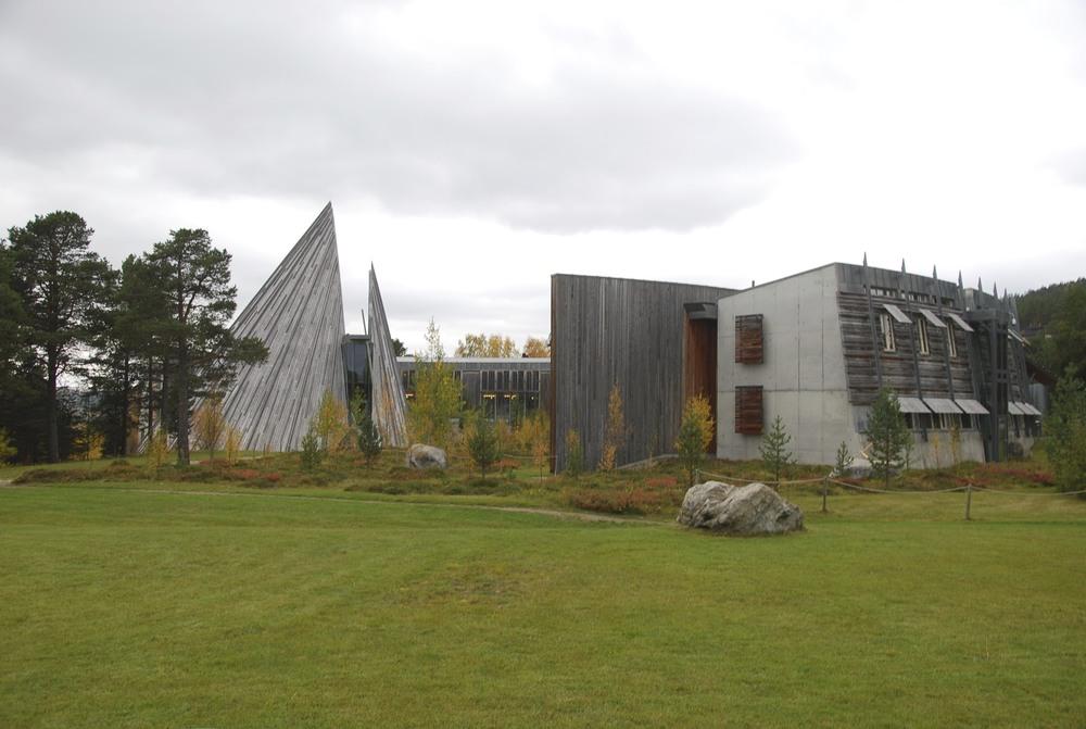 The Sámi parliament building in Karasjok, Norway