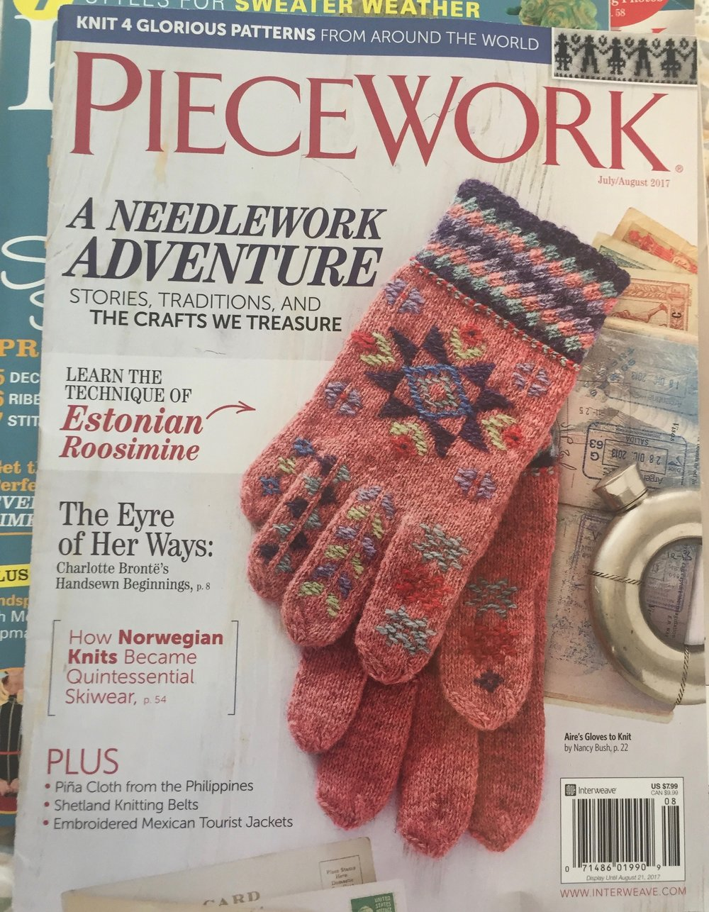 The current July/August PieceWork magazine. My article is inside.