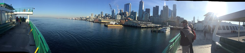 The ferry ride to Bainbridge island and the fantastic view of Seattle as we went.
