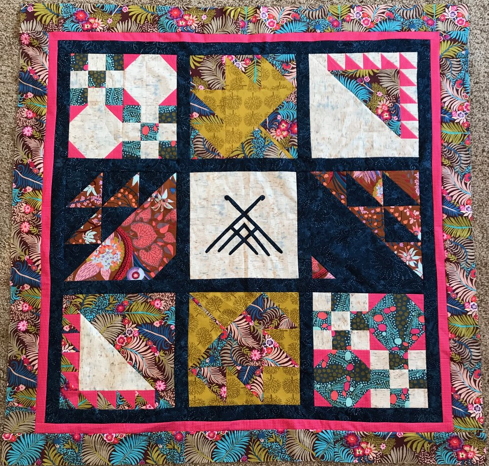 Quilting the North Woods quilt top, unquilted