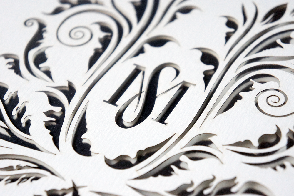 Wedding Monogram Laser Cut