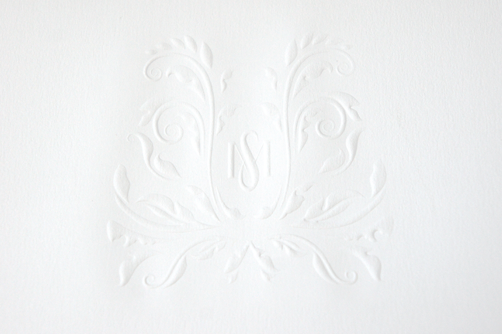 Wedding Monogram Emboss