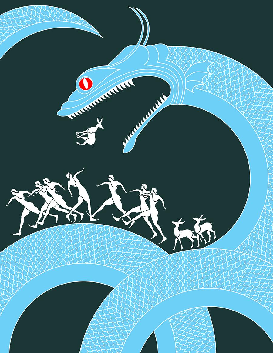 Sant Jordi Dragon Illustracion