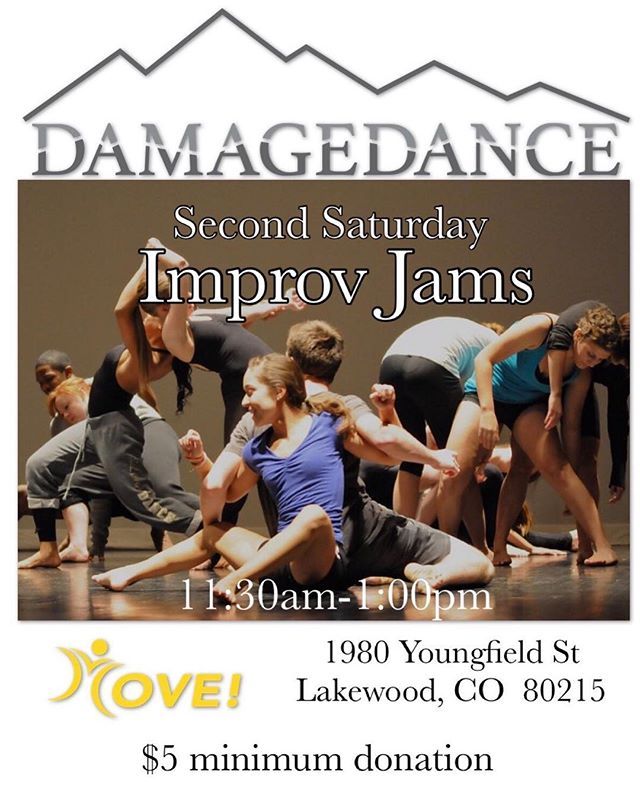 This Weekend!!! Improv Jam! Get Ready! See you there! . . . #ddimprovjam #improvjam #improvjams #DAMAGEDANCEimprov #DAMAGEDANCEandMOVE #MOVE #SecondSaturdays #septemeber8th #thisweekend #weekenddande #staurdaydance #damagedance #danceinspired #danceeducation #dance #contemporaryart #contemporary #contemporarydance #modern #moderndance #dancecompany #coloradodance #denverdance #dancelife #dancer #dancefloor #dancephotography #dancemusic #dancephotographer #dancefamily