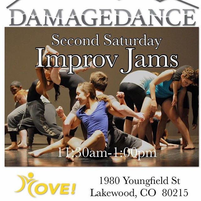 Second Saturday Improv Jam is ONE WEEK FROM TOMORROW!  Come jam with us and have your journal entry for the month.  Explore, connect, observe and release @llcmove !!! #improv #improvjam #danceindenver #secondsaturdays #secondsaturdaysimprovjam #damagedance #danceinspired