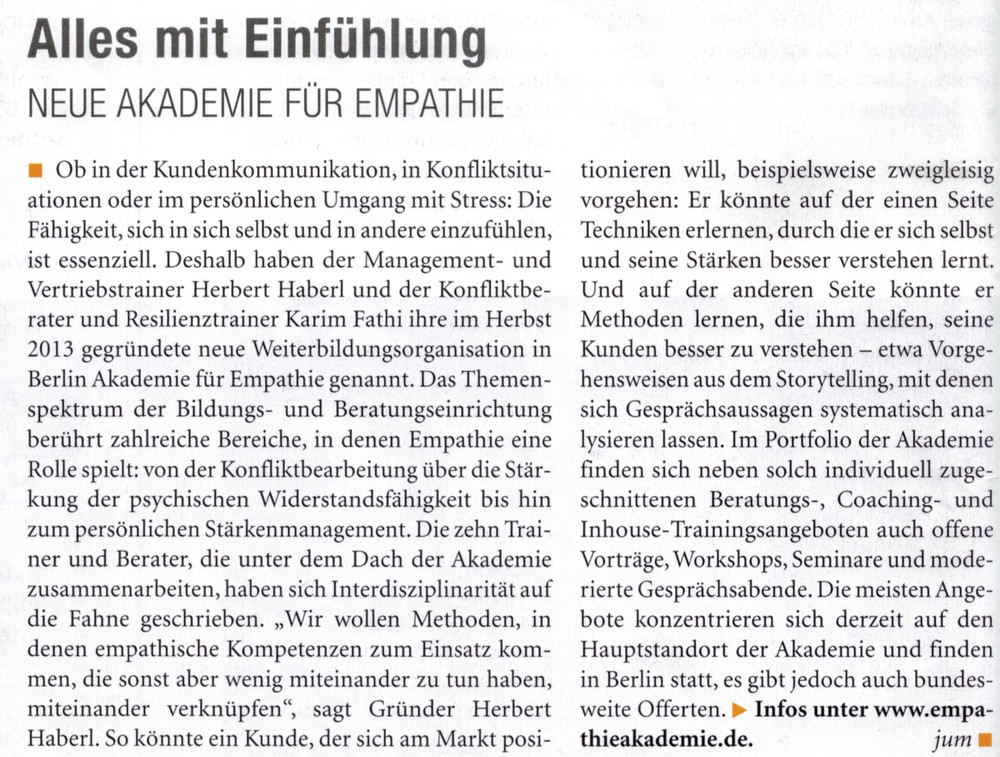 managerSeminare Magazin vom Januar 2014