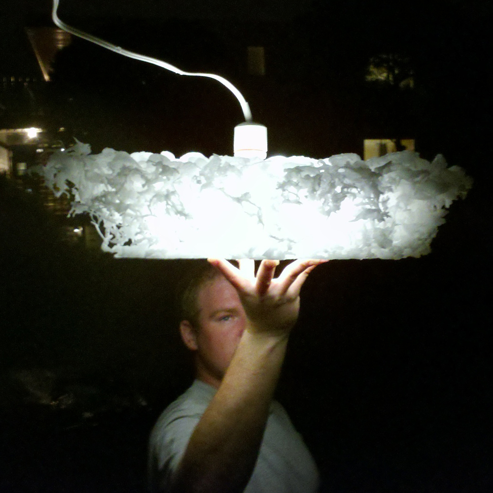Wax on Ice Lamp