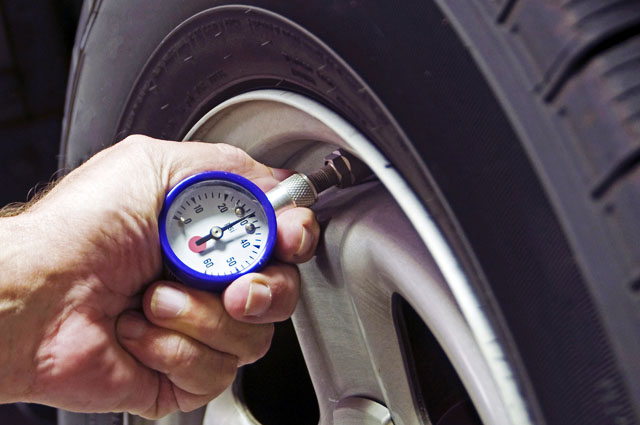 Check your tyre pressures once a fortnight (or every second fuel fill). That's what most owners' manuals say. Tyre pressure placard is inside the driver's door frame. Low pressure is the most common cause of premature wear - and highway blowouts (because the extra friction in the sidewall from all the flexing generates too much heat).