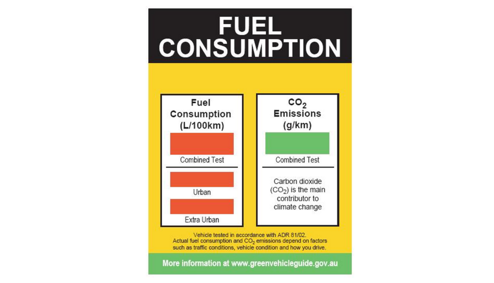 Official fuel consumption label - a legislative requirement on all new cars in showrooms