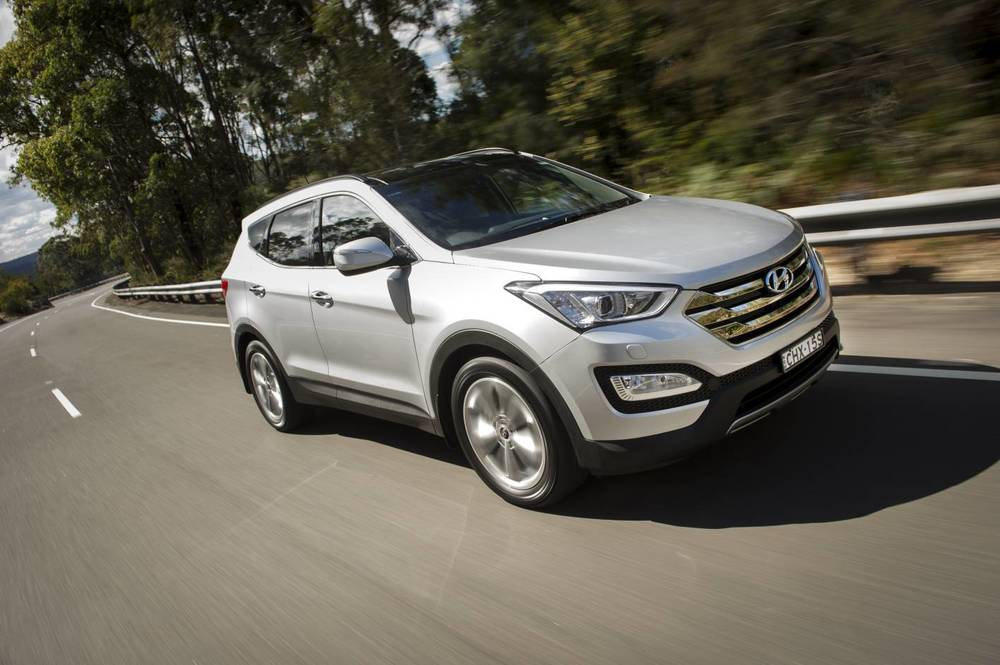 Great equipment levels and long warranty are the Santa Fe's highlights - best looking Hyundai in the range, too