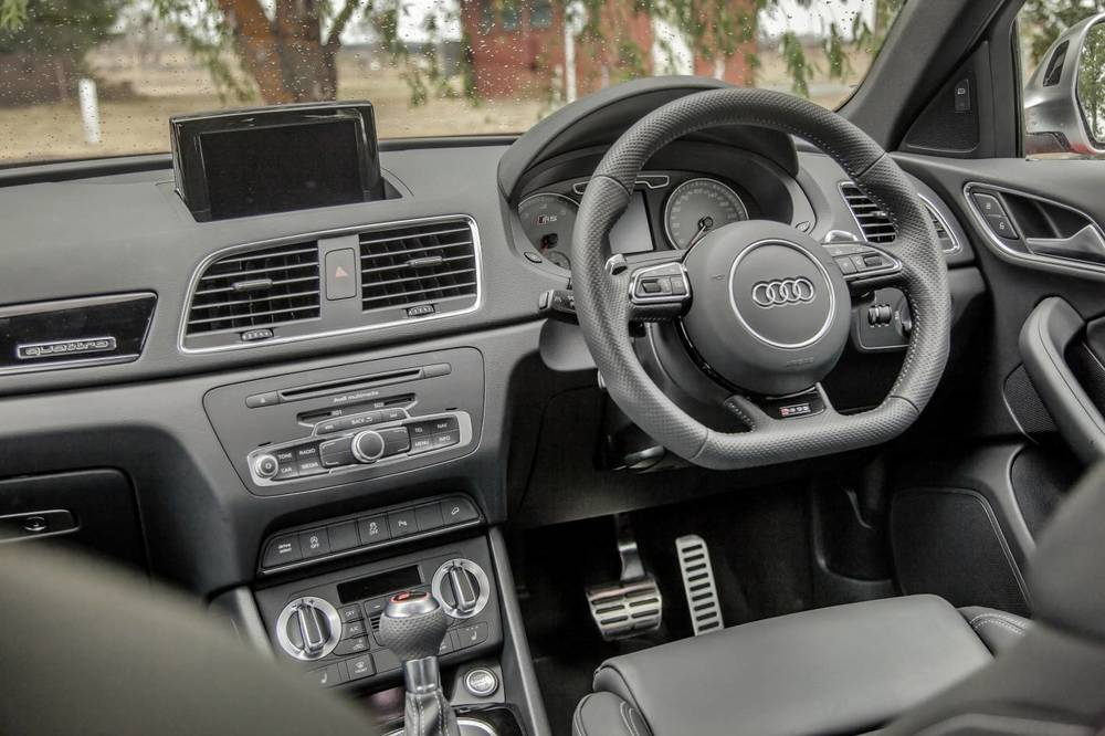 Nice interior on the Q3. Audi's singular strength is interior fit and finish. But you have to ask yourself: How much of the good bits are standard?