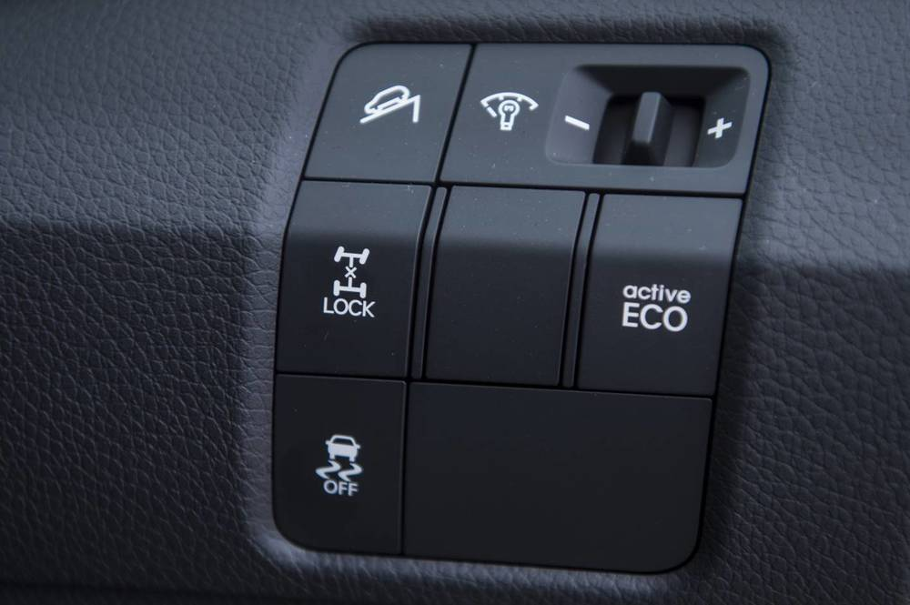 AWD Lock button boosts low-traction grip