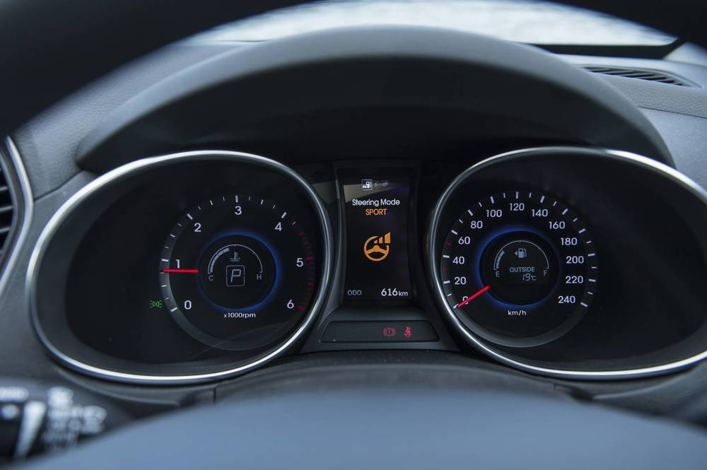 Neat instrument cluster