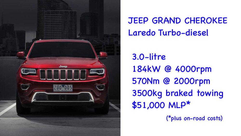 ABOVE: Jeep Grand Cherokee
