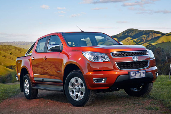 Holden Colorado LTZ model pictured