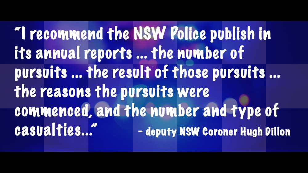 NSW Police no longer publish pursuit stats - they're that bad