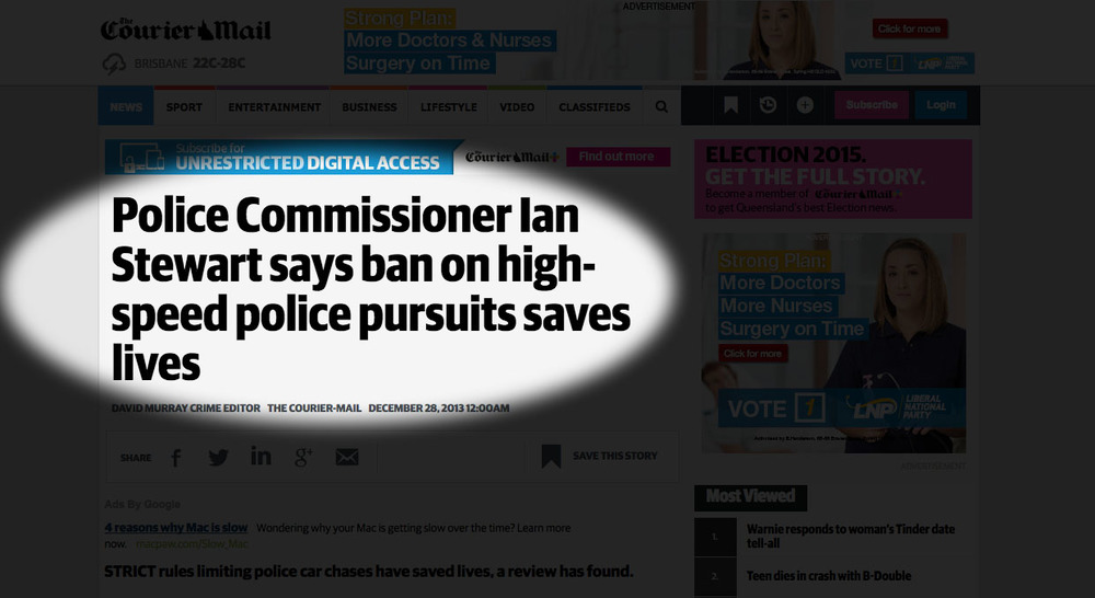 What the Queensland Police Commissioner says...