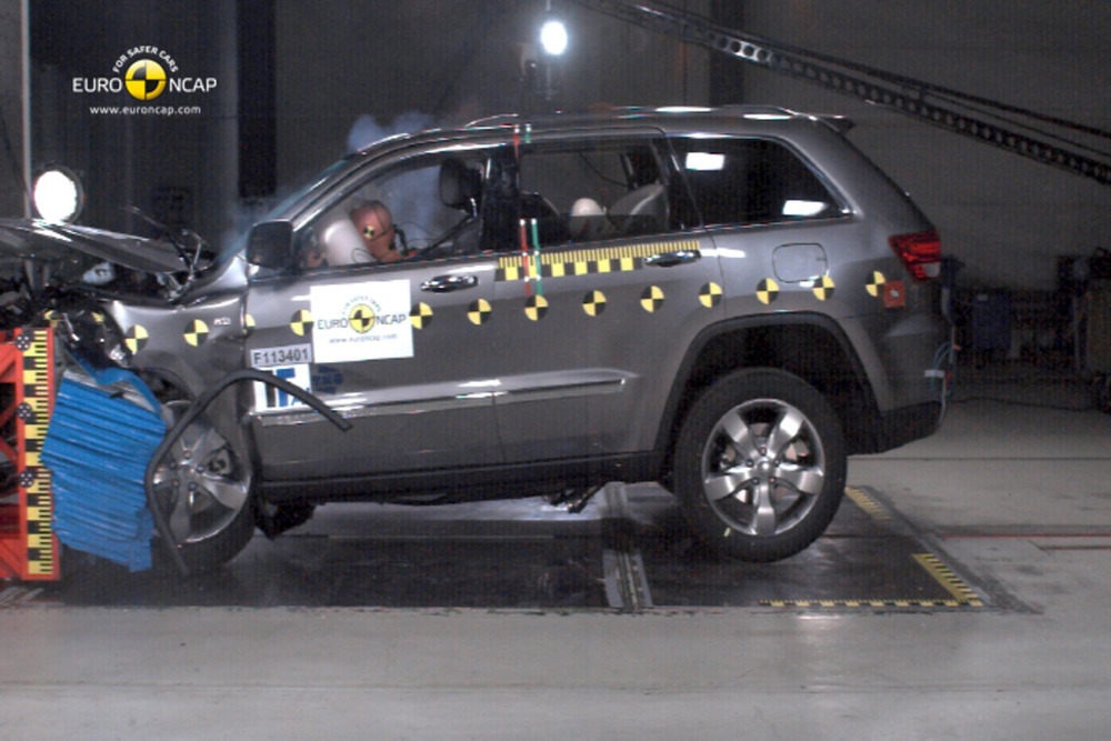 Grand Cherokee is seriously half-baked in the frontal crashworthiness department