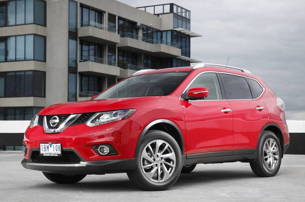 Nissan X-TRAIL (above) competes well on many levels against Outlander - but has an anorexic diesel, and ridiculous logic underpinning its seven-seat availability