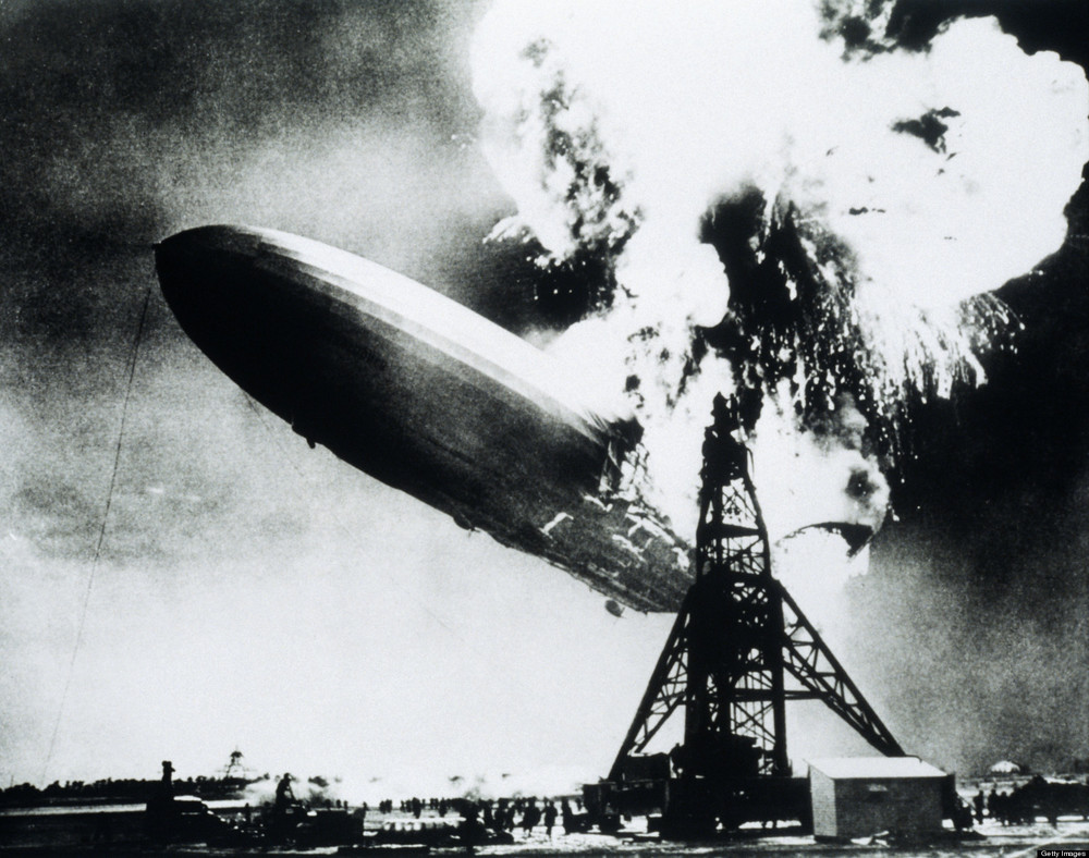 At least nitrogen is inert, unlike the hydrogen on board the Hindenburg...