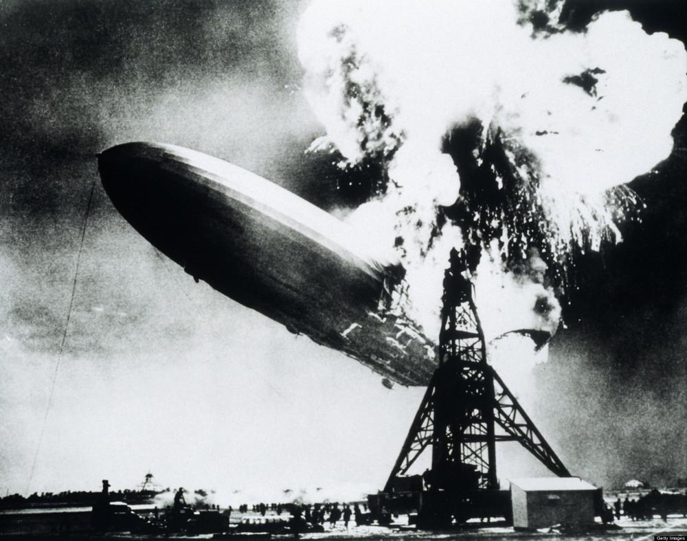 At least nitrogen is inert, unlike the hydrogen on boar the Hindenburg...