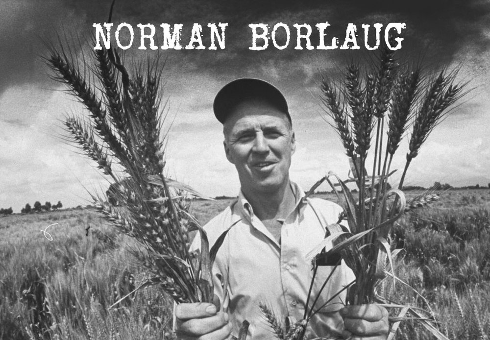 Norman Borlaug - scientist saviour. Credited with saving the lives of over 1 billion people, using brains and hydrocarbons. One of the greatest heroes of the 20th Century, and hardly anyone knows who he is.