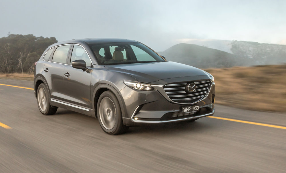 Mazda CX-9: brilliant vehicle with an exceptional turbo petrol powertrain - but saddled with a space-saver spare tyre, which is a real highway driving liability (especially in the wet, at night, on a freeway)