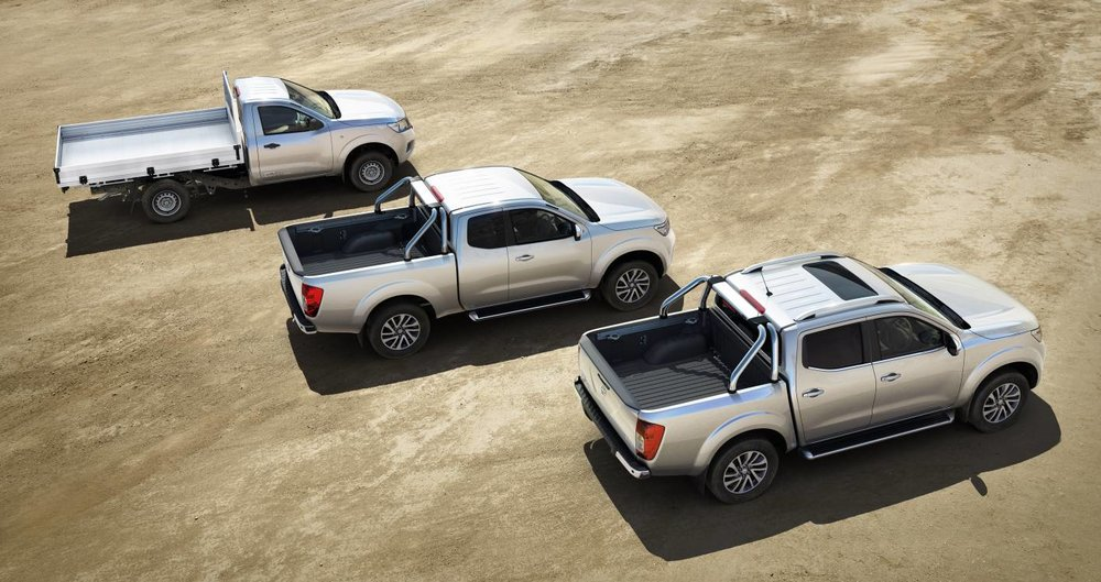 L-R: Single, king and dual-cab Navara