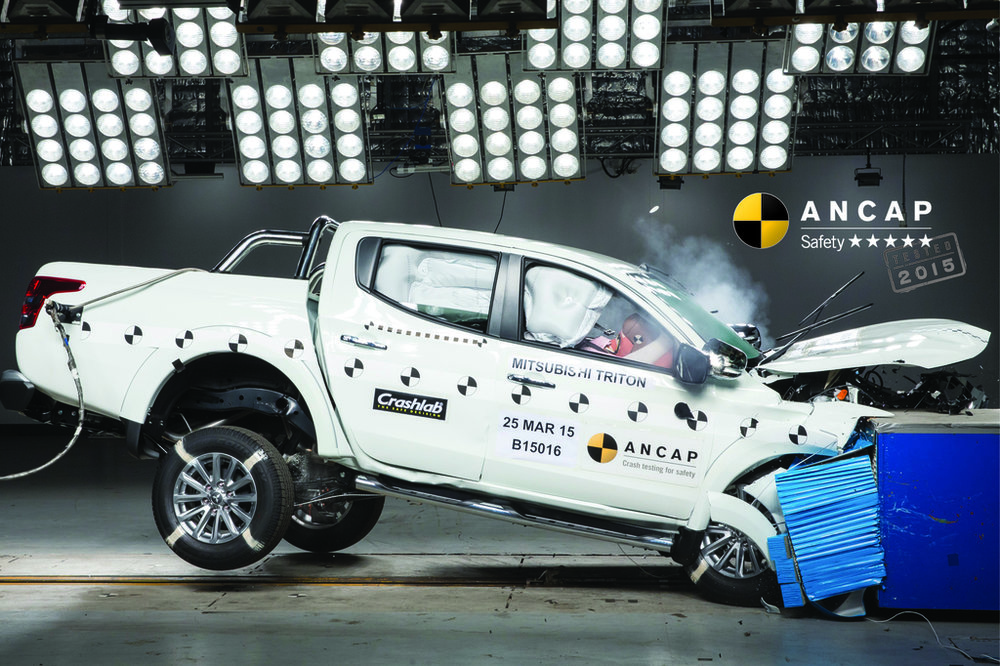 Mitsubishi Triton crash test data was used to validate the safety rating for Pajero Sport (from the b-pillar forward, it is a Triton ute)