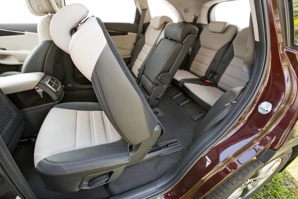 Third row access is good for a seven-seat SUV - but a people mover like a Kia Carnival is a lot more ergonomically friendly