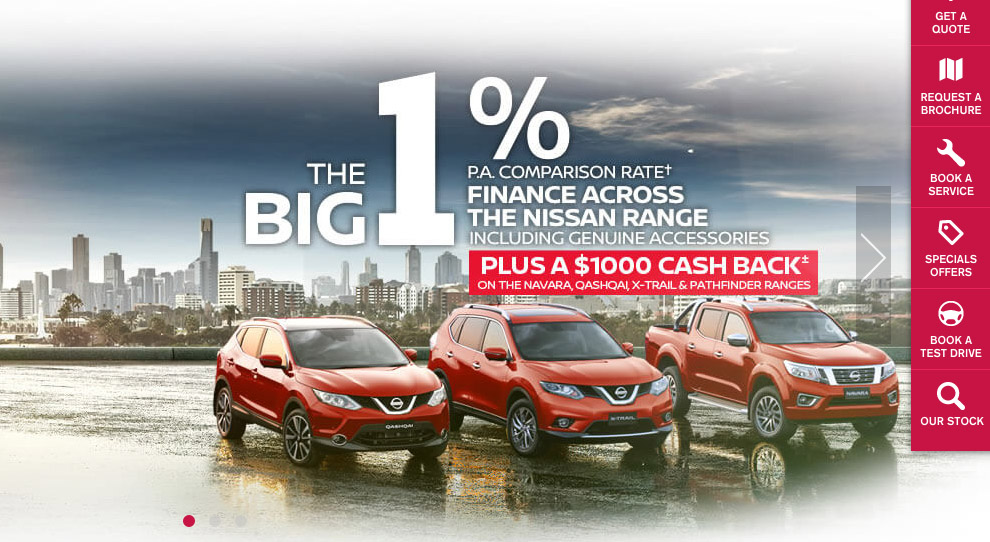 Nissan's 1% offer is designed to get you into the dealership - where they can greet, you, gut you, and hang you out to dry
