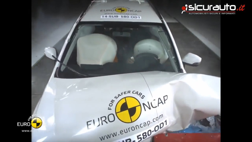 64km/h crash test is easy to fail. ('Fail' means 'you die')