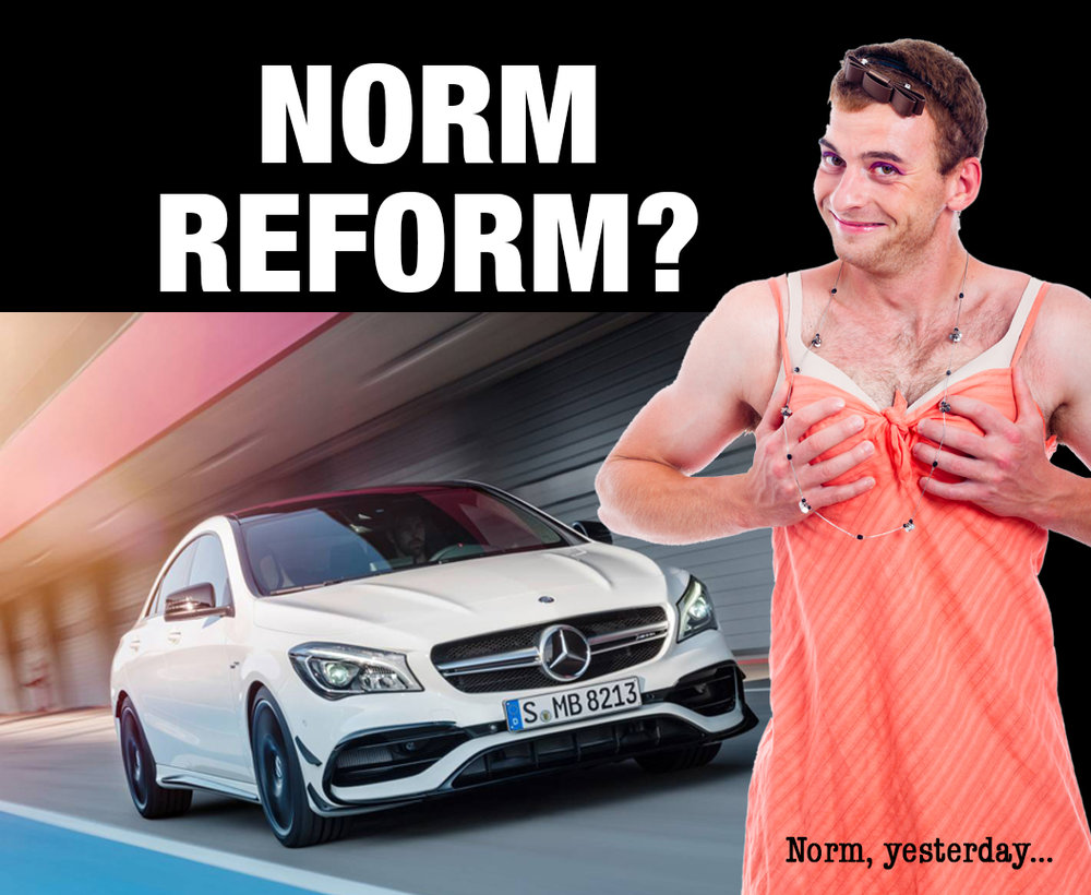 "Mercedes-Benz says the CLA is a ""norm challenger"". They got that bit right..."