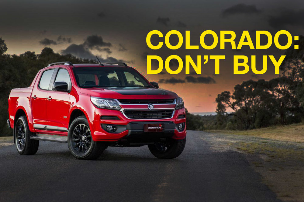 Holden Colorado: Don't buy