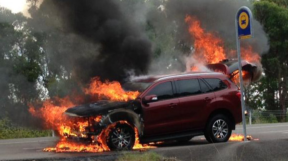 The Ford Everest Mr Barnwell escaped from...