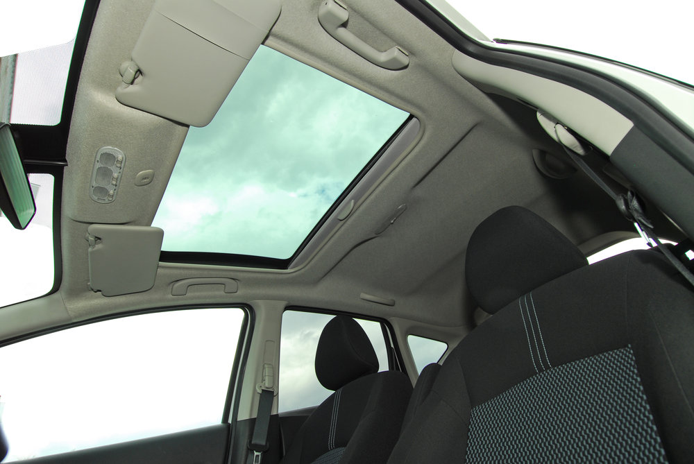Counterintuitively, sunroofs are typically made from tempered glass - which does not block the majority of UV radiation